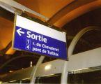 Signalétique lumineuse par la tranche (ligne 14 'METEOR' du métro parisien