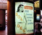 Porte affiches cintrés 120 x 176, extra plats à la gare TGV de Lyon - Pardieu vue 2