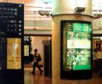 Porte affiches cintrés 120 x 176, gare TGV de Lyon - Pardieu